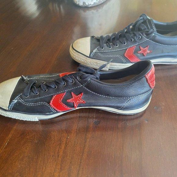 Custom Leather Converse Chuck Taylors, Size 9 Mens